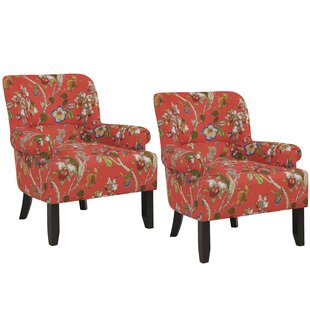 Check Prices Romer Rolled Armchair (Set of 2) by Red Barrel Studio Reviews (2019) & Buyer's Guide