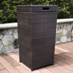 Beau Belton Manual Wicker Trash Can