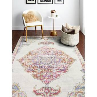 East Urban Home Liddell Floral Wool Brown Area Rug Wayfair