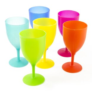 Natalia 6-Piece 14 oz. Plastic Goblet Set