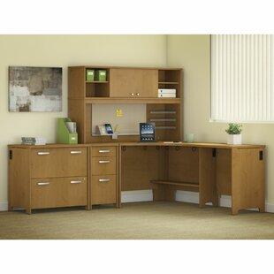 Benter 5 Piece L-Shape Desk Office Suite by Latitude Run