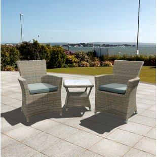 Eden 2 Seater Bistro Set with Cushions by Cozy Bay