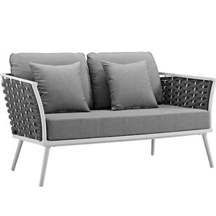 Rossville Outdoor Loveseat With Cushions by Ivy Bronx Best