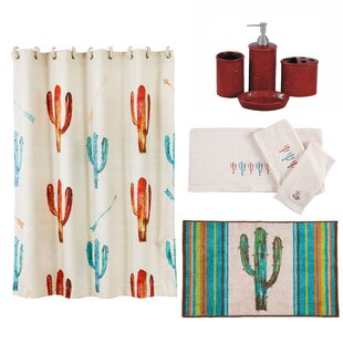 Cactus 21 Piece Shower Curtain Set