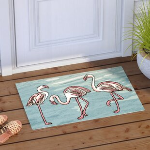 Boller Flamingo Handmade Blue Indoor/Outdoor Area Rug