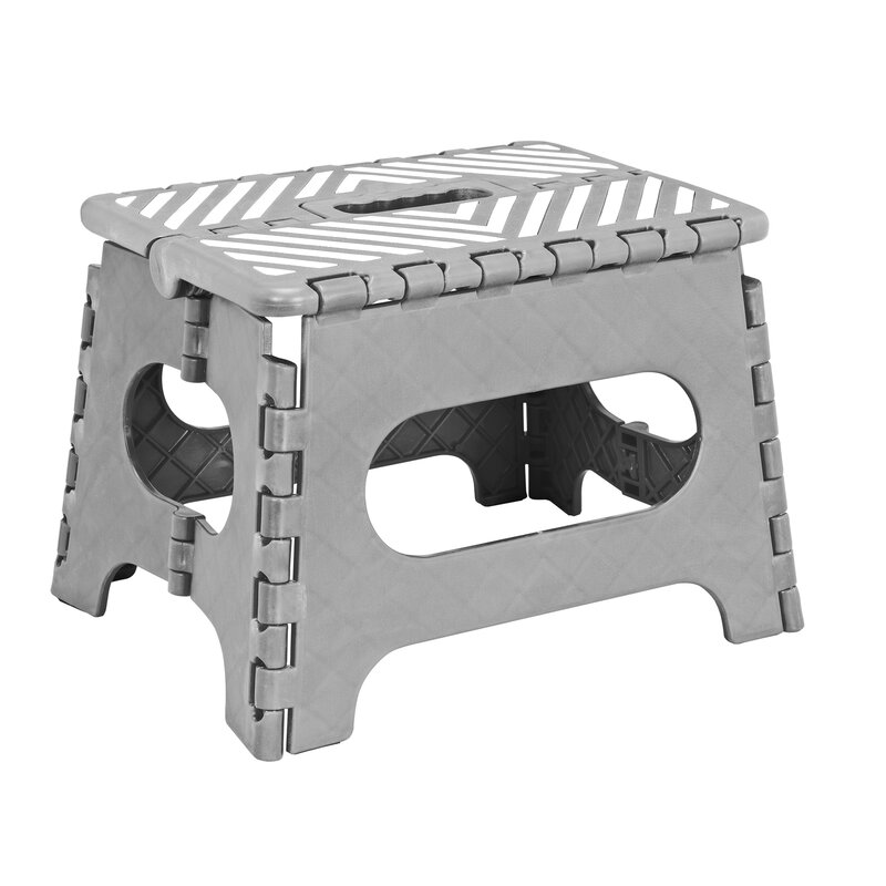1-Step Plastic Folding Step Stool with 200 lb. Load Capacity  sc 1 st  Wayfair & Simplify 1-Step Plastic Folding Step Stool with 200 lb. Load ... islam-shia.org