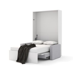 Adamo Upholstered Murphy Bed with Mattress By Orren Ellis