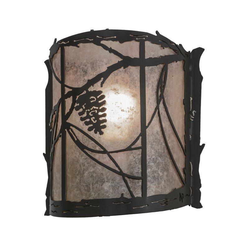 Meyda Tiffany 1 Light Whispering Pines Wall Sconce Wayfair