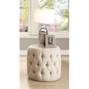 Regan Round Upholstered End Table by Ever..