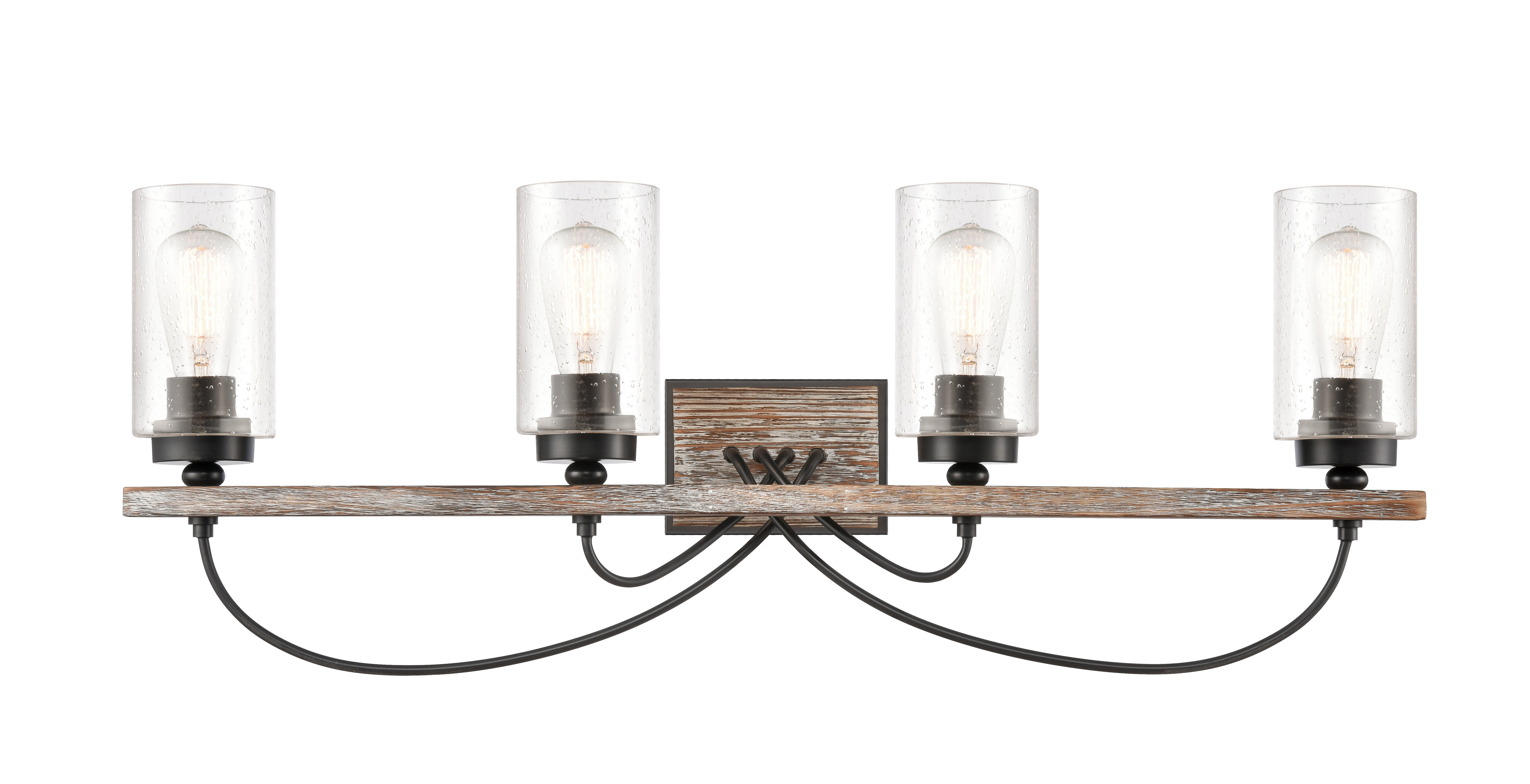 Gracie Oaks Eastborough 4 Light Dimmable Matte Black Vanity Light Wayfair