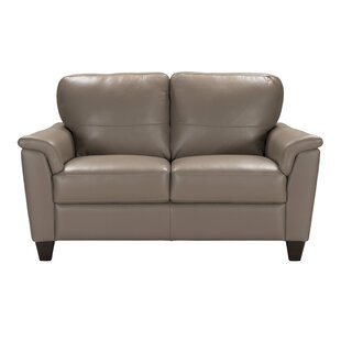 Amity Leather Loveseat by Red Barrel Studio