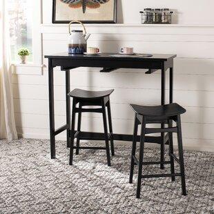 Chaska 3 Piece Pub Table Set Ebern Designs