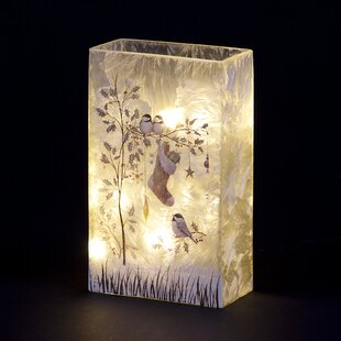 Birds And Stocking Lit Glass Lighting Accessory By The Seasonal Aisle