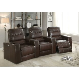 Latitude Run Recliner Home Theater Sofa