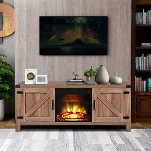 Boan Solid Wood TV Stand for TVs up to 65 with Fireplace Included by Gracie Oaks