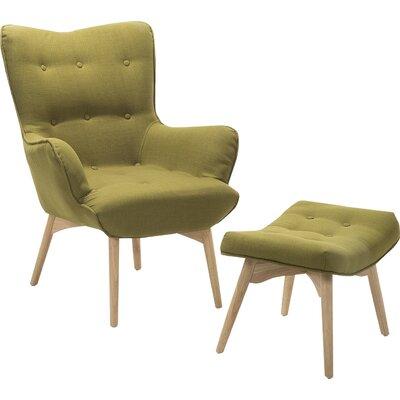 Ledo Armchair and Ottoman Corrigan Studio Upholstery: Olive