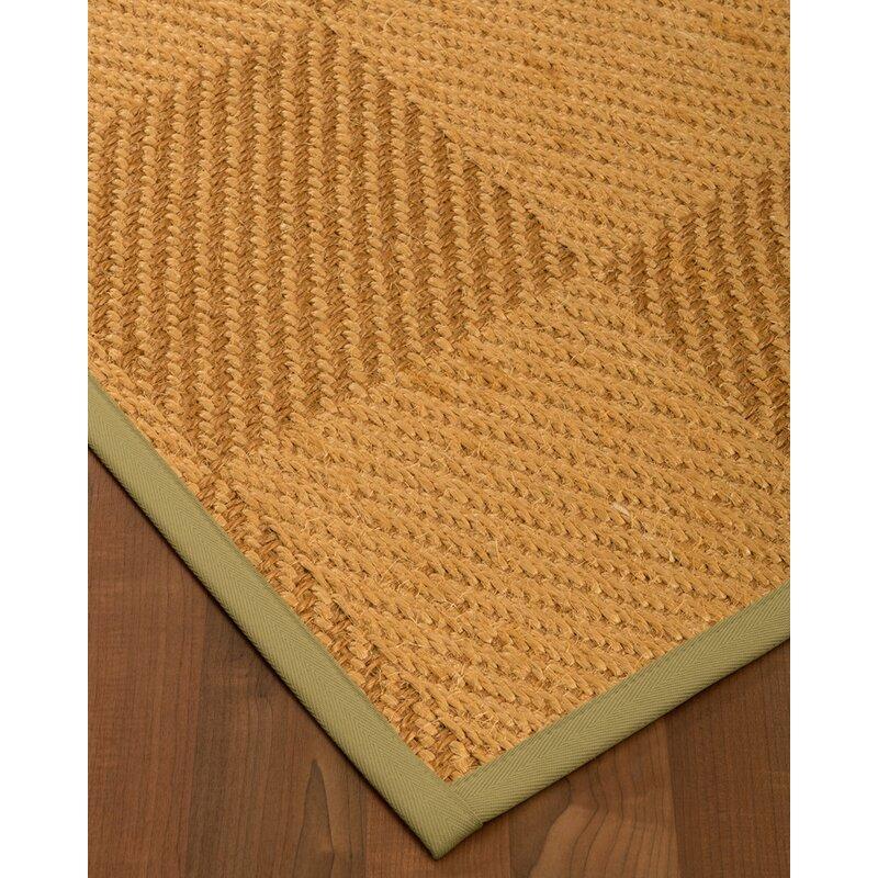 August Grove Escalera Hand-Woven Jute/Sisal  Beige/Brown Area Rug, Size: Rectangle 8 x 10