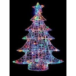 120 LED Lit Soft Acrylic Xmas Lighted Tree By The Seasonal Aisle