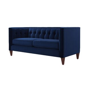Shop For Harcourt Tuxedo Chesterfield Loveseat by Willa Arlo Interiors Reviews (2019) & Buyer's Guide