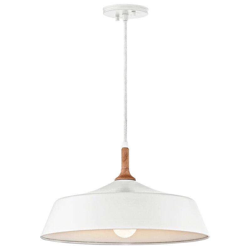 white modern light pendant