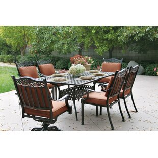 Astoria Grand Fairmont 7 Piece Dining Set with Cushions