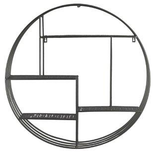 Orren Ellis Goldblatt Metal Round Wall Sh..
