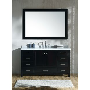 Online Reviews Marine 61 Single Rectangle Bathroom Vanity with Mirror By Andover Mills