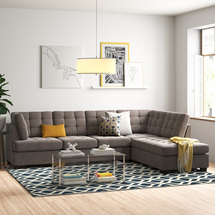 Brilliant Giovanny Reversible Sectional Gmtry Best Dining Table And Chair Ideas Images Gmtryco