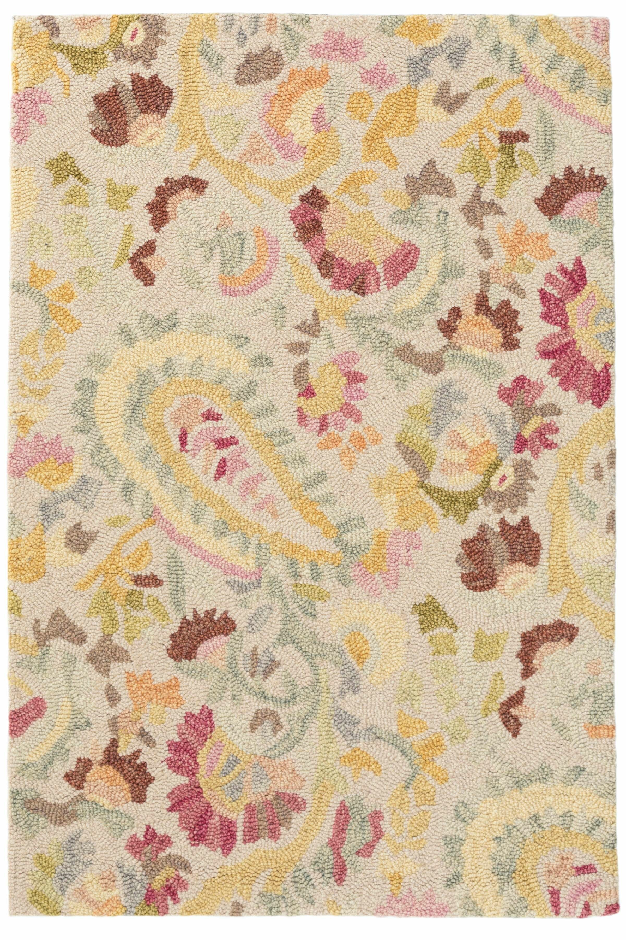 Dash And Albert Rugs Ines Paisley Beige Pink Yellow Wool Area Rug Reviews Perigold