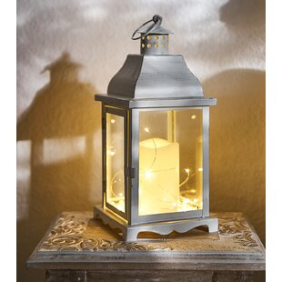 Yeung White Battery Powered LED Lantern With Electric Candle By Sol 72 Outdoor
