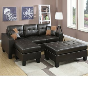 Park Place Reversible Modular Sectional with Ottoman by Winston Porter