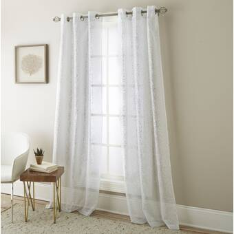 Urbanest Garden Nature Floral Sheer Grommet Curtain Panels Reviews Wayfair