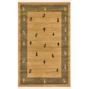 Jan Traditional Tan Area Rug