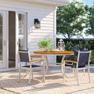 Caspian 5 Piece Powder Coated Aluminum Frame Dining Set