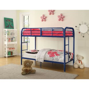 Summey Contemporary Metal Twin Over Twin Bunk Bed by Harriet Bee Best Design