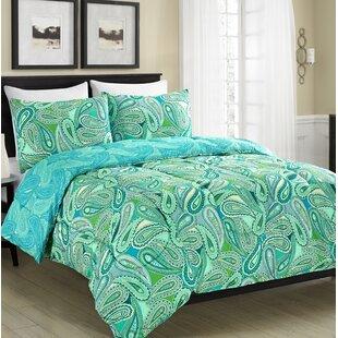Hickerson Aqua Paisley Reversible Comforter Set