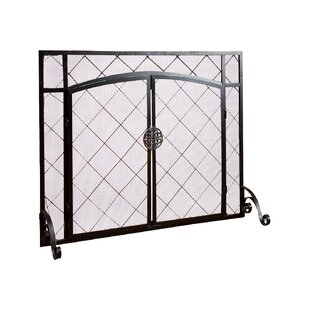 Single Panel Steel Fireplace Screen by Plow & Hearth