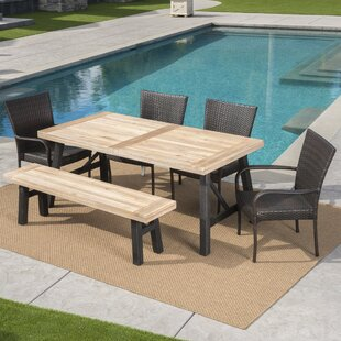 Brayden Studio Arabi Outdoor 6 Piece Dining Set