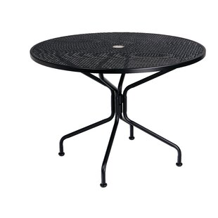 Premium Mesh Top Round Umbrella Iron Dining Table