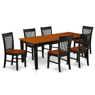 Appian 7 Piece Extendable Solid Wood Dining Set by Winston Porter