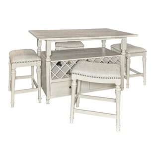 Abby 5 Piece Pub Table Set (Set of 5)