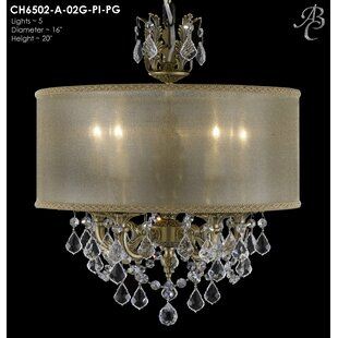 Look for Llydia 5-Light Chandelier By American Brass & Crystal