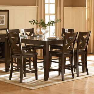 Milone 7 Piece Pub Table Set b..