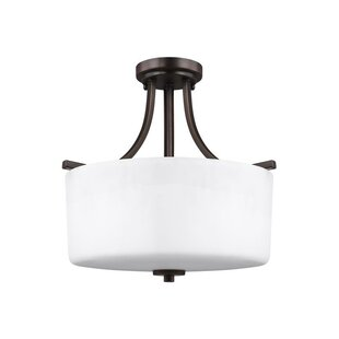Winston Porter Yareli 3-Light Semi Flush Mount