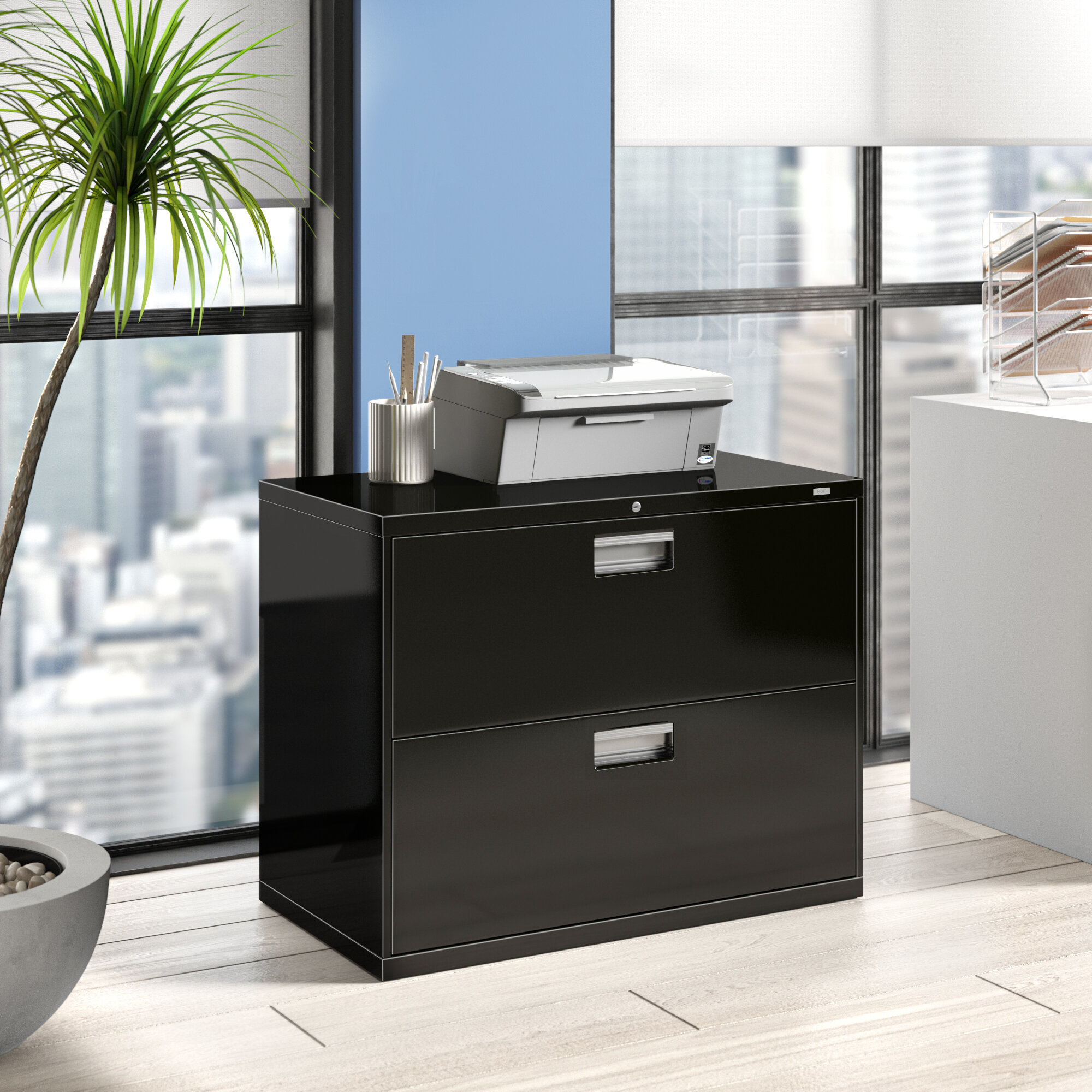 Picture of: Hon 600 Series 2 Drawer Lateral Filing Cabinet Reviews