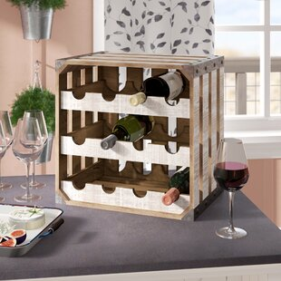 Dowe Rustic Wood Crate Square 12 Bottle F..