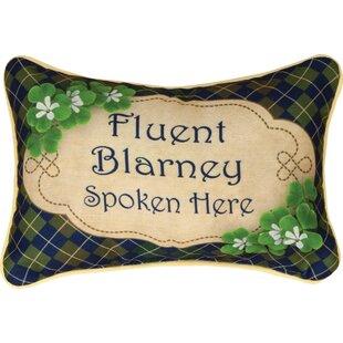 Irish Luck Word Lumbar Pillow