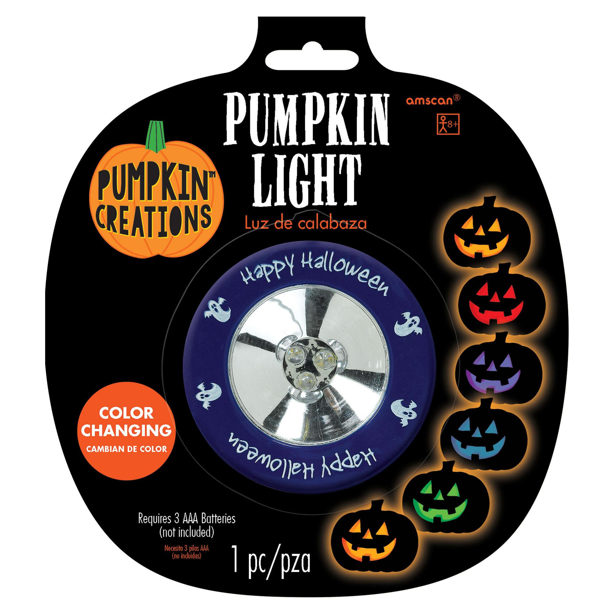PUMPKIN LITES STROBE Lights Safer than Candles Batteries Included