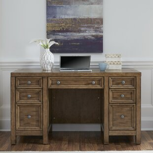 Milford Pedestal Desk by Canora Grey Reviews