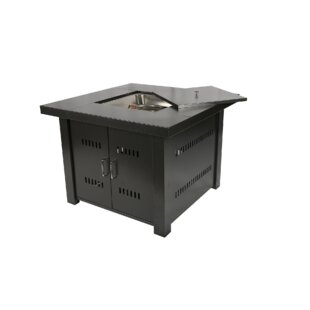 South Beach Stainless Steel Propane Gas Fire Pit Table by JJ Designs 2019 Coupon